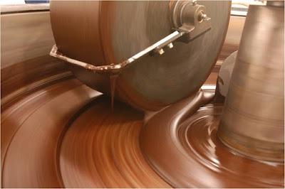 Conching chocolate