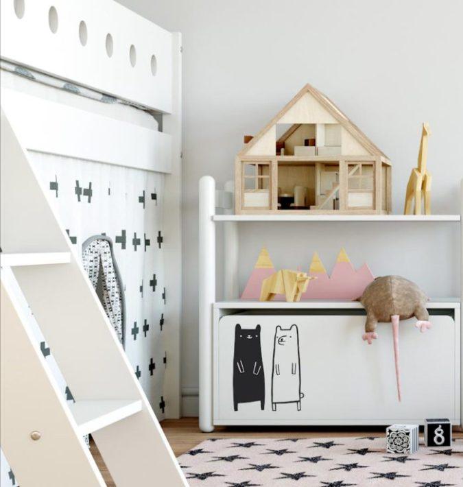 Habitación estilo nórdico para niños
