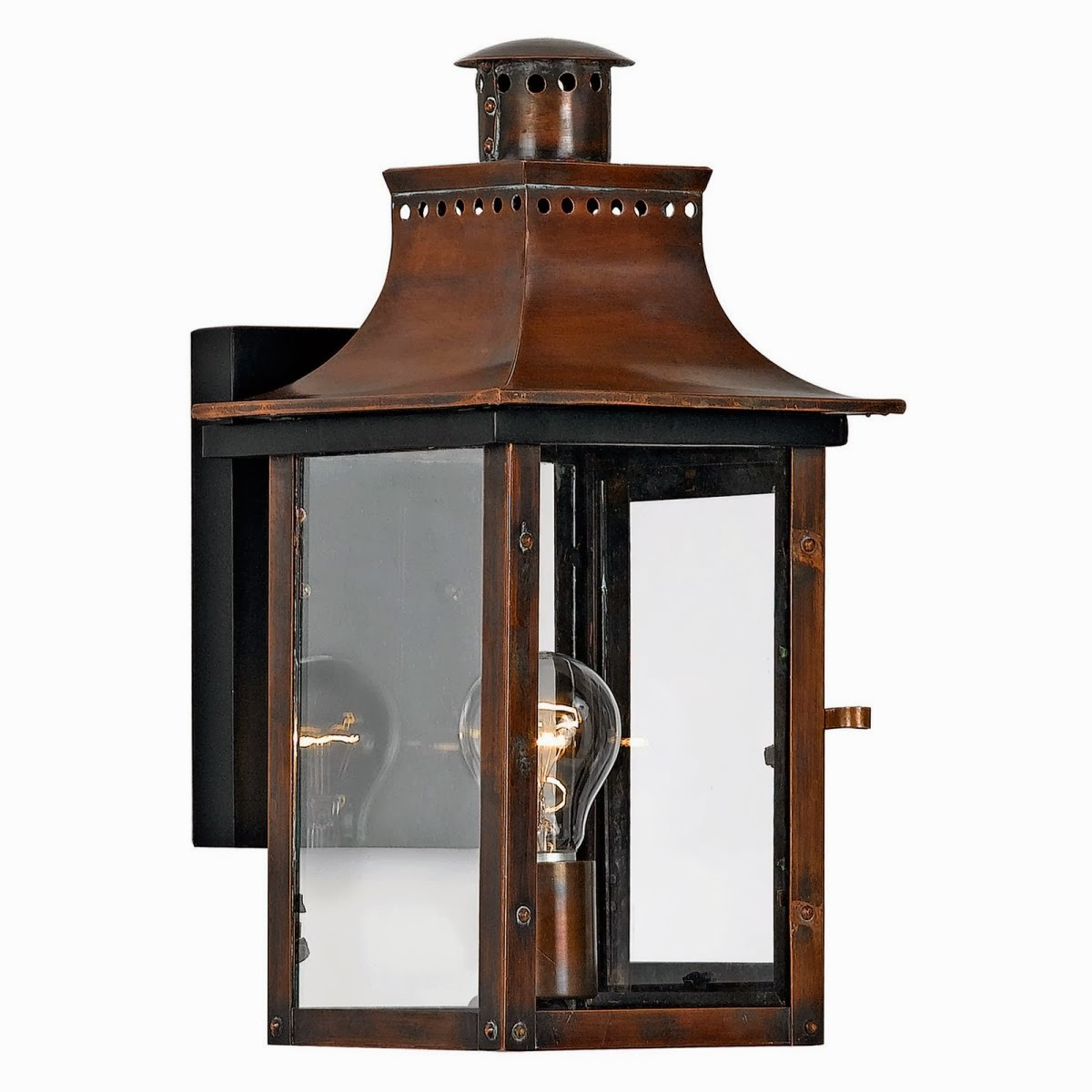 Upscale Lighting Fixtures: Quoizel Chalmers CM8408AC Outdoor Wall Lantern