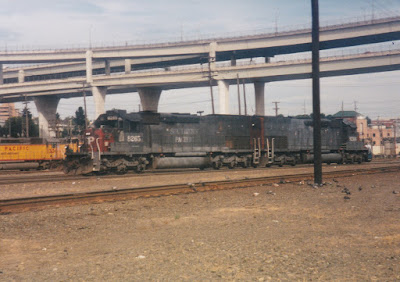 Southern Pacific SD40T-2 #8265 at Albina Yard in Portland, Oregon, on July 13, 1997