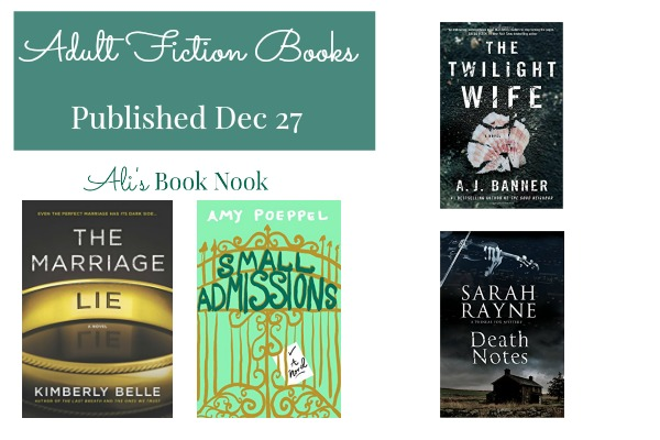 New Suspenseful Adult Fiction Books December 27th
