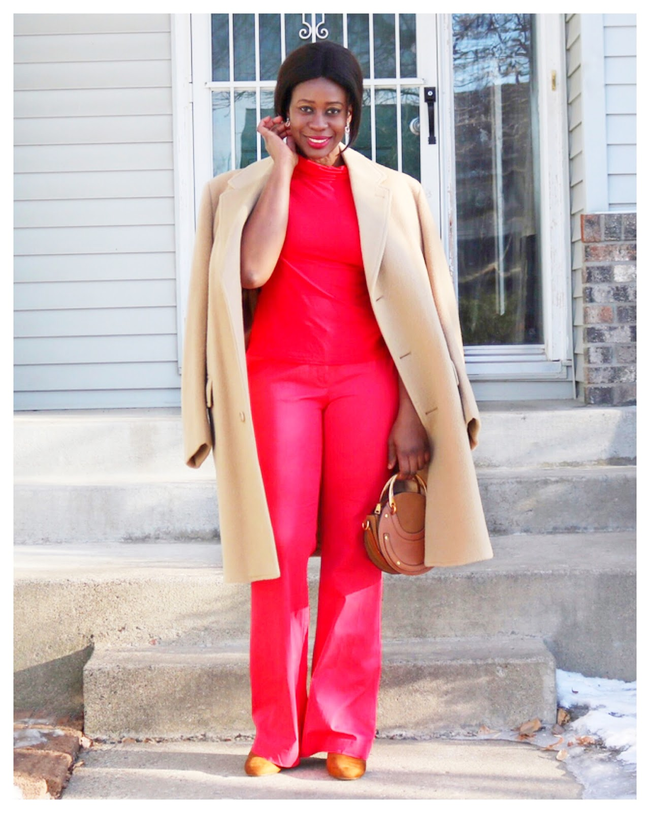 Fashion Beauty Zone: Beauty's Fashion Zone: Faux Jumpsuit + Oversized Camel