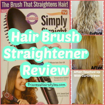 Hairbrush straightener review. Tested on naturally wavy, curly, frizzy hair.