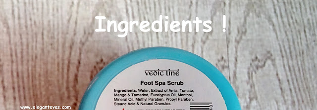 review of vedic line foot scrub