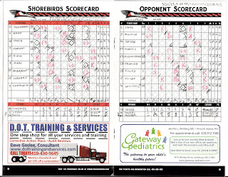 Intimidators vs. Shore Birds, 05-24-14. Shorebirds win, 10-2.