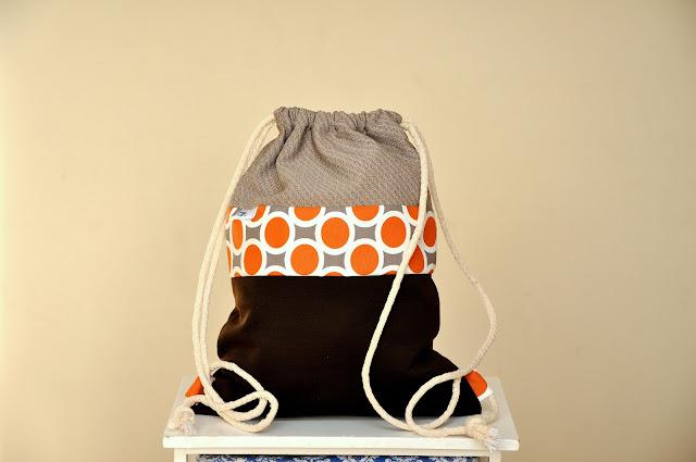 "Worek- plecak ""geometric orange"""