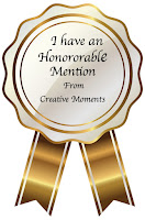 Honourable mentions at Creative Moments!