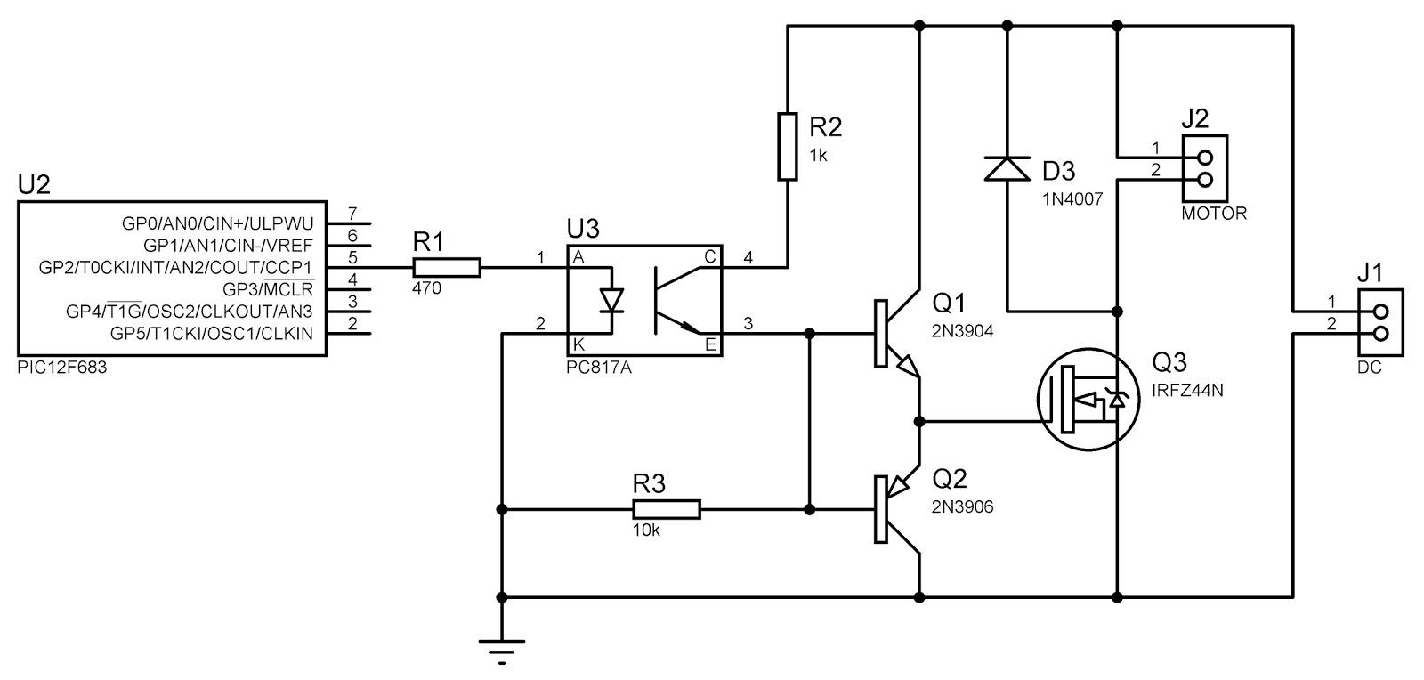 Circuito Optoacoplador : Electrogh: control digital de velocidad