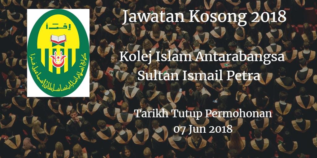 Jawatan Kosong KIAS 07 Jun 2018