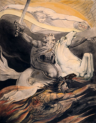 Death on a pale white horse, William Blake, 1880