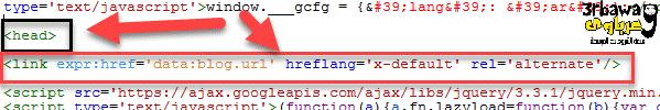 حل مشكلة لا يتضمن موقعك اى علامات hreflang فى مدونات بلوجر