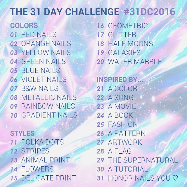 31 day challenge nail art furious filer schedule