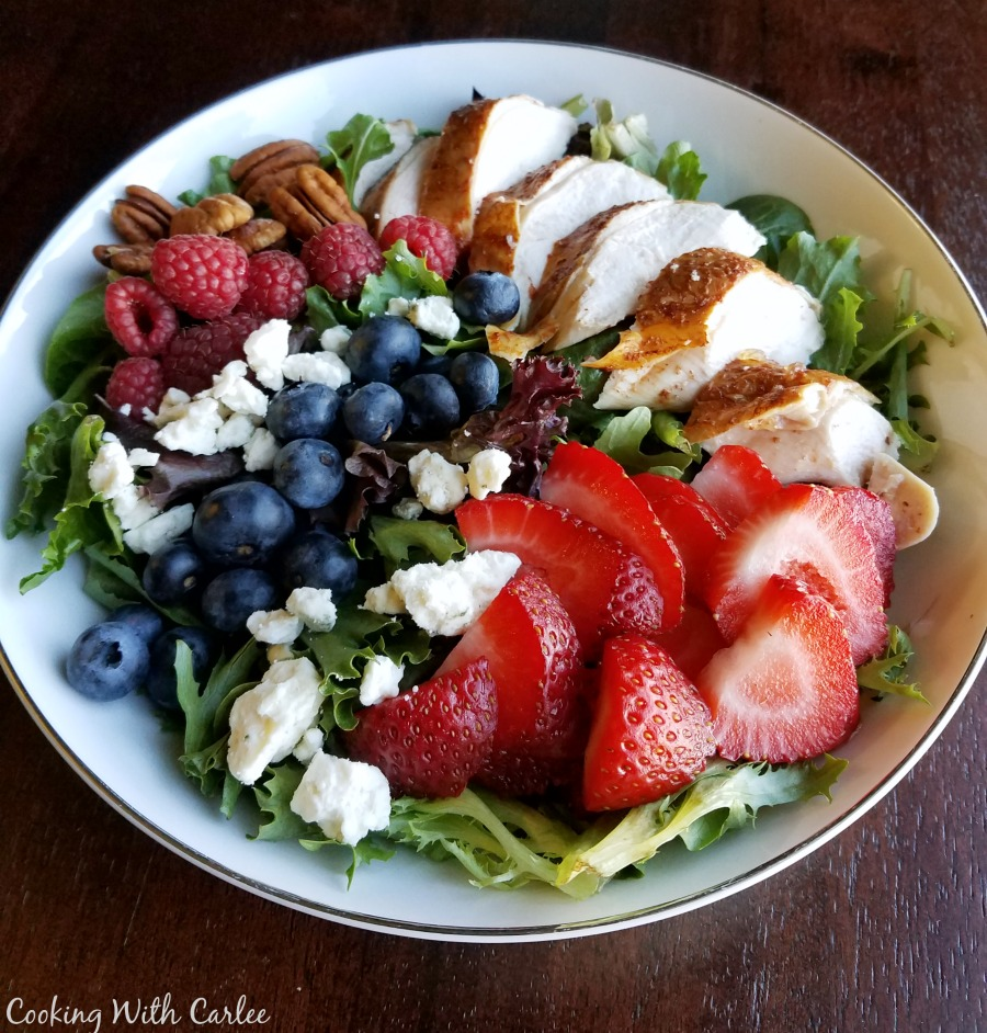Cooking With Carlee: Red White And Blueberry Dinner Salad