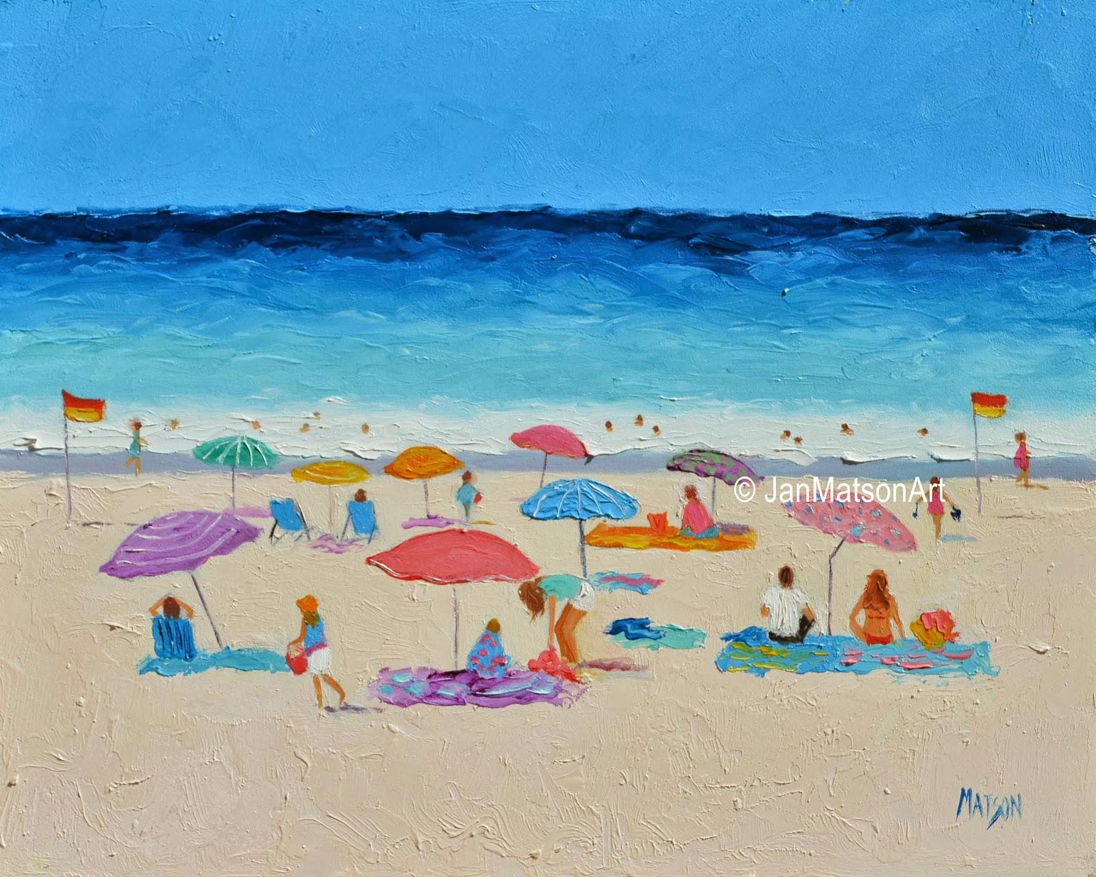 Beach Painting Long Hot Summer Sold