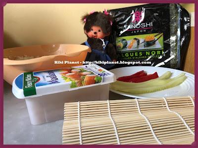 kiki la sorcière, monchhichi, maki, sushi, japan, japon, cuisine, recette