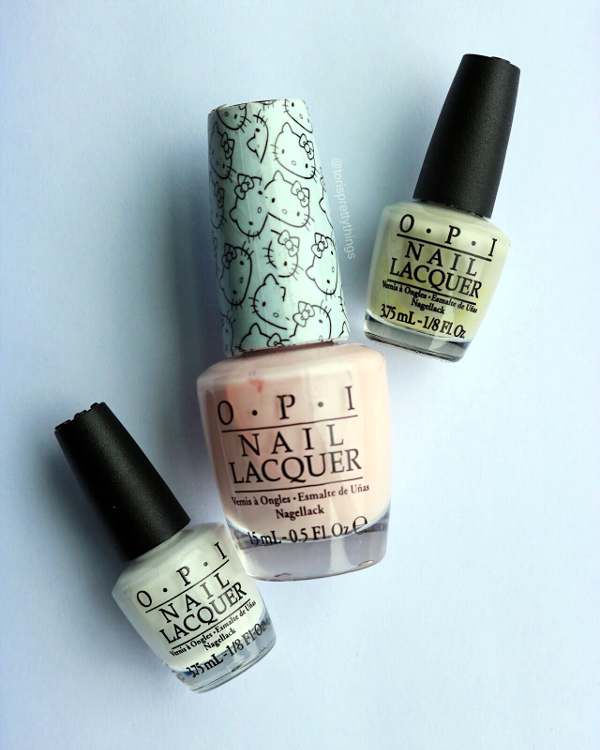 OPI Alpine Snow, OPI Let's be Friends!, OPI Skull & Glossbones