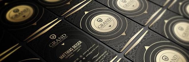 Koleksi Kartu Bisnis Elegan Dengan Desain Emas