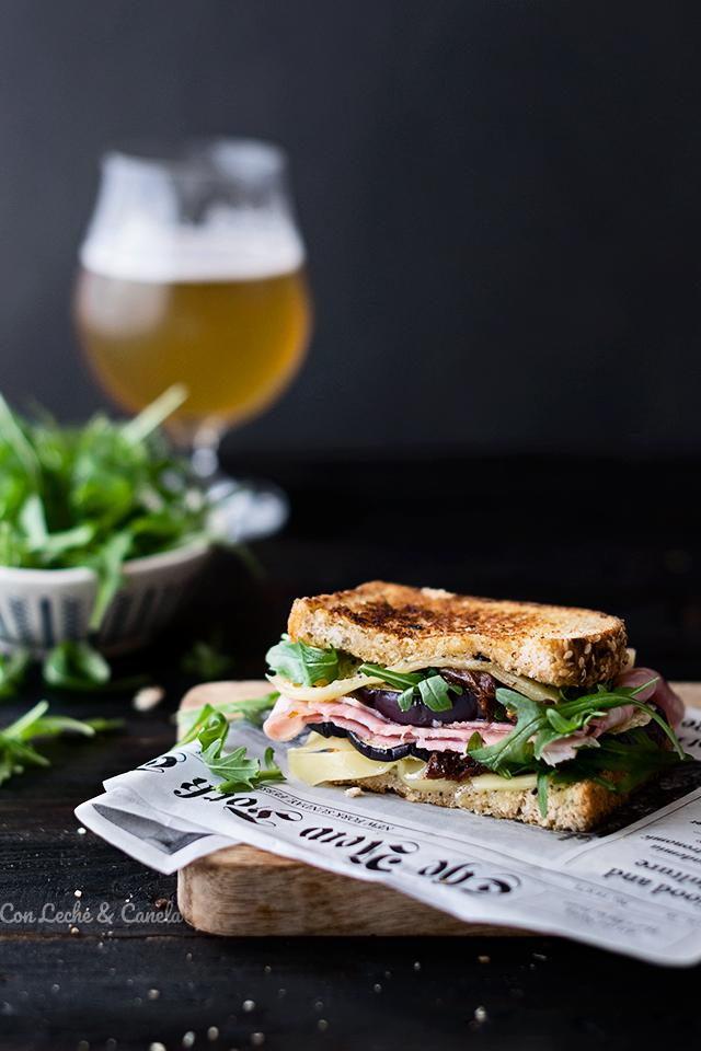 sandwich mediterraneo gourmet receta