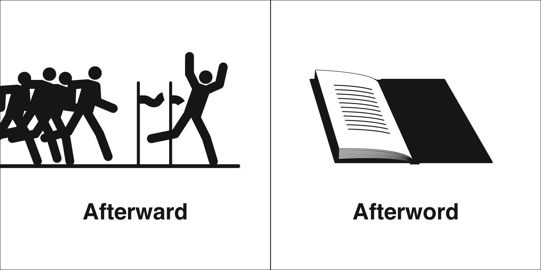 Homophones, Weakly: Afterward & Afterword