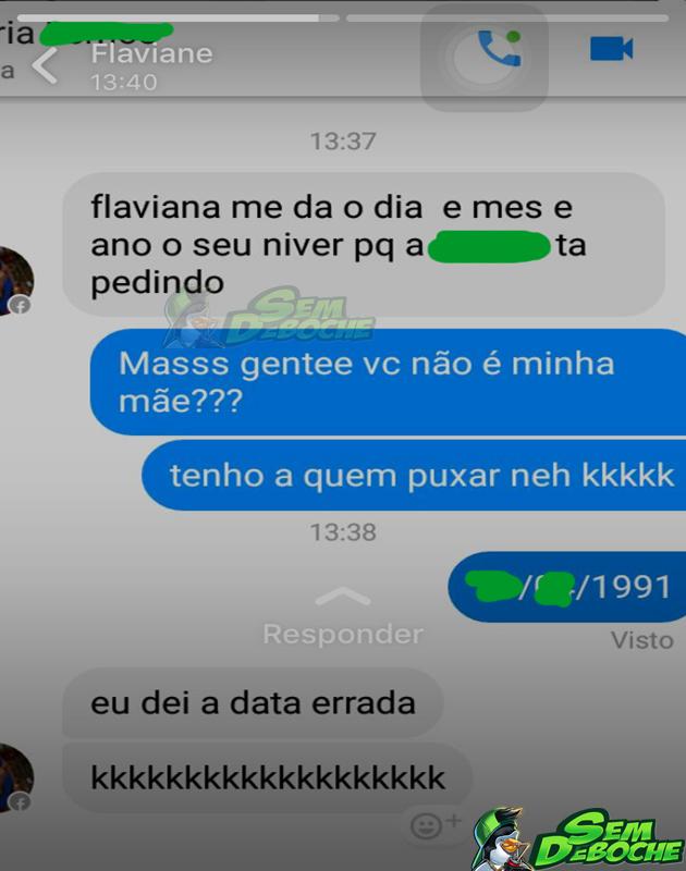 UMA MÃE QUE NÃO SABE A DATA DE ANIVERSÁRIO DA FILHA
