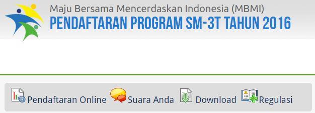 Pengumuman Rekrutmen Program SM3T Tingkat Nasional Tahun 2016