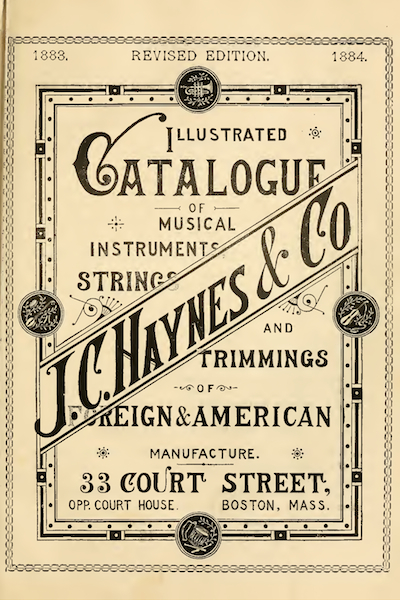 1883 J. C. Haynes & Co. Musical Instruments Catalog Cover
