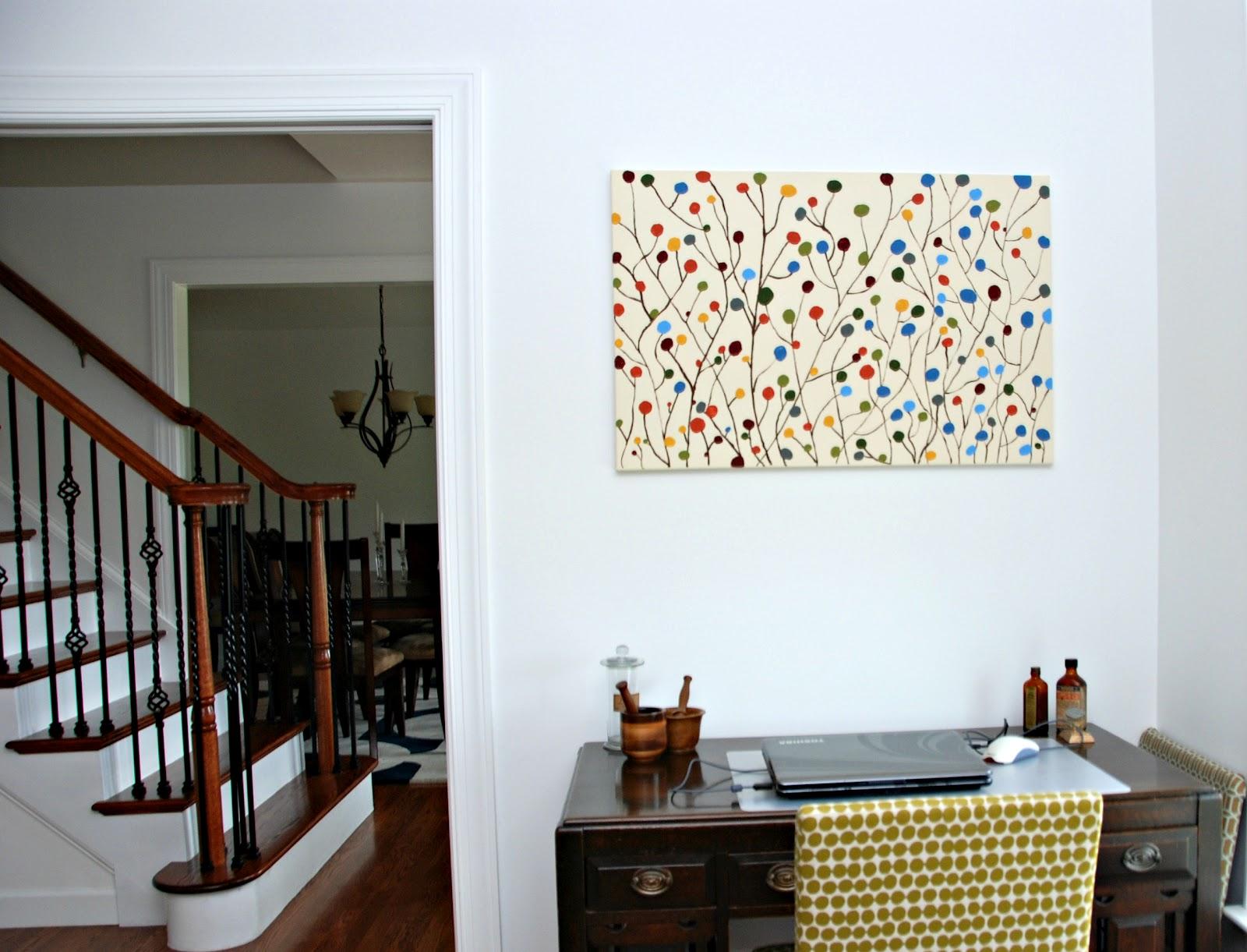 Unique Diy Wall Decor: One Creative Housewife: DIY Contemporary Wall Art