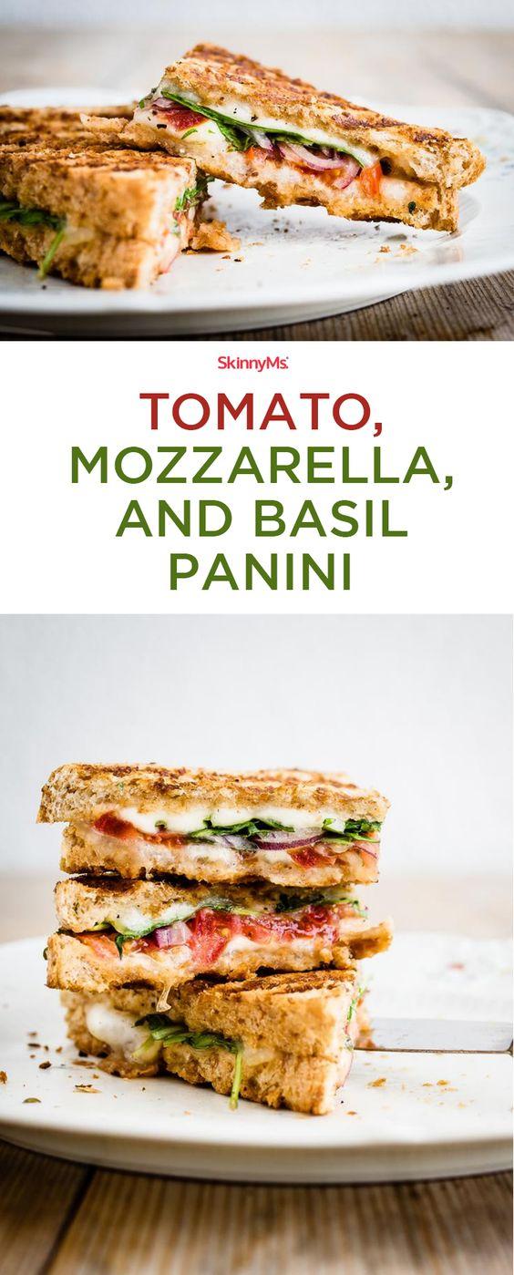 Tomato, Mozzarella, and Basil Panini