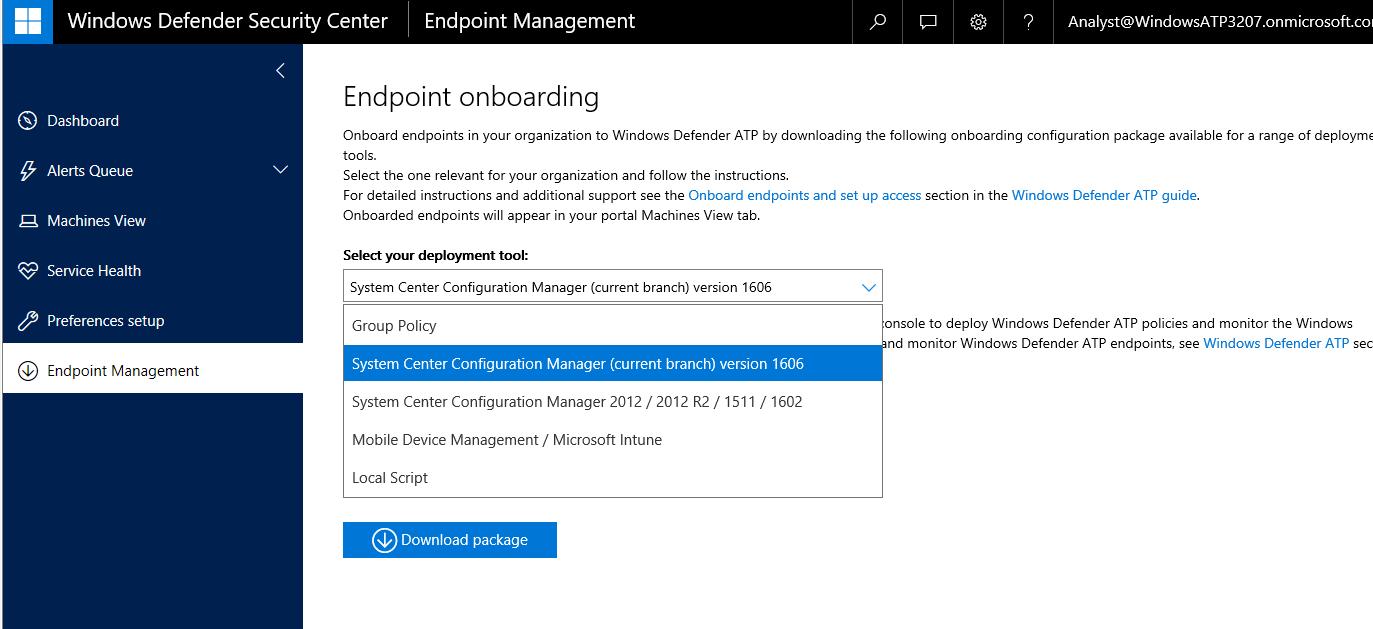 Gerry Hampson Device Management: Manage Windows Defender ATP