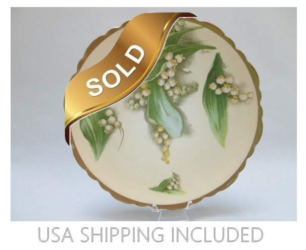 1898-1918 Royal Austria Antique Hand Painted Plate O.& E.G.