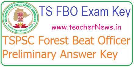 TSPSC Forest Beat Officer Answer Key 2017 Check TS FBO Paper 1 & Paper 2 Key