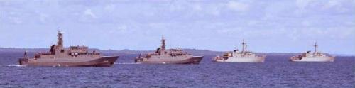 Latihan peperangan ranjau TNI AL dan RSN