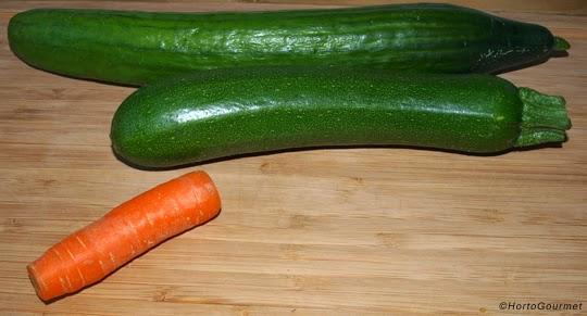 Pepino zanahoria y calabacín HortoGourmet