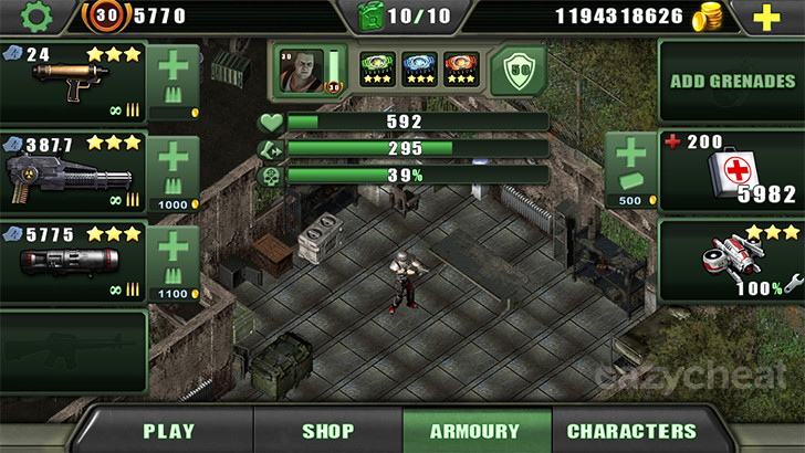 Zombie Shooter Cheats