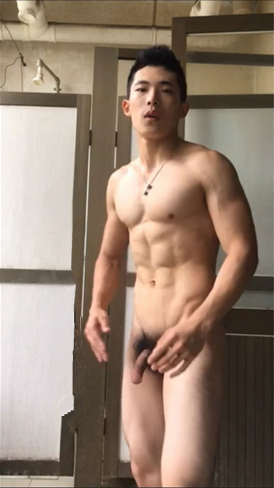 Hot asian male model naked erection