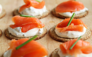 Cena ligera de salmón