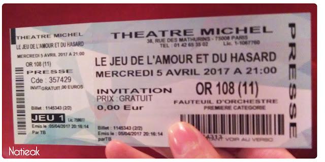 Le jeu de l'amour et du hasard de Marivaux Théâtre Michel