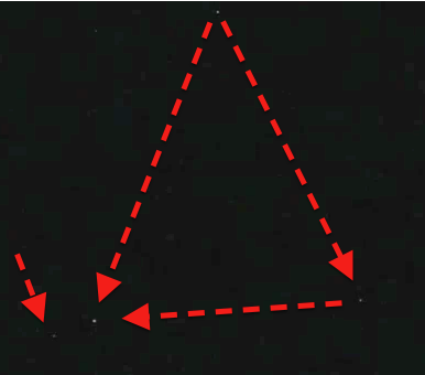 UFO SIGHTINGS DAILY: Glowing Triangle UFO Los Angeles California 8-8