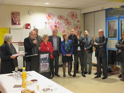 Mesdames et Messieurs les élus : Mme Frizot (Conseillère Départementale), Mme Buchalik et M. Gronfier (Montceau), Mrs. Dumont et Meunier (St-Vallier), M. Savatier (Blanzy)
