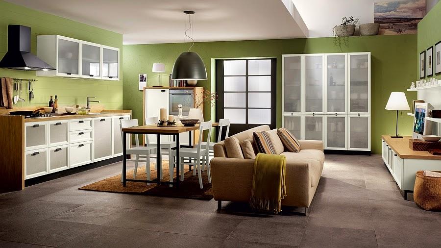 Kolaborasi Kitchen Set dan Ruang Keluarga