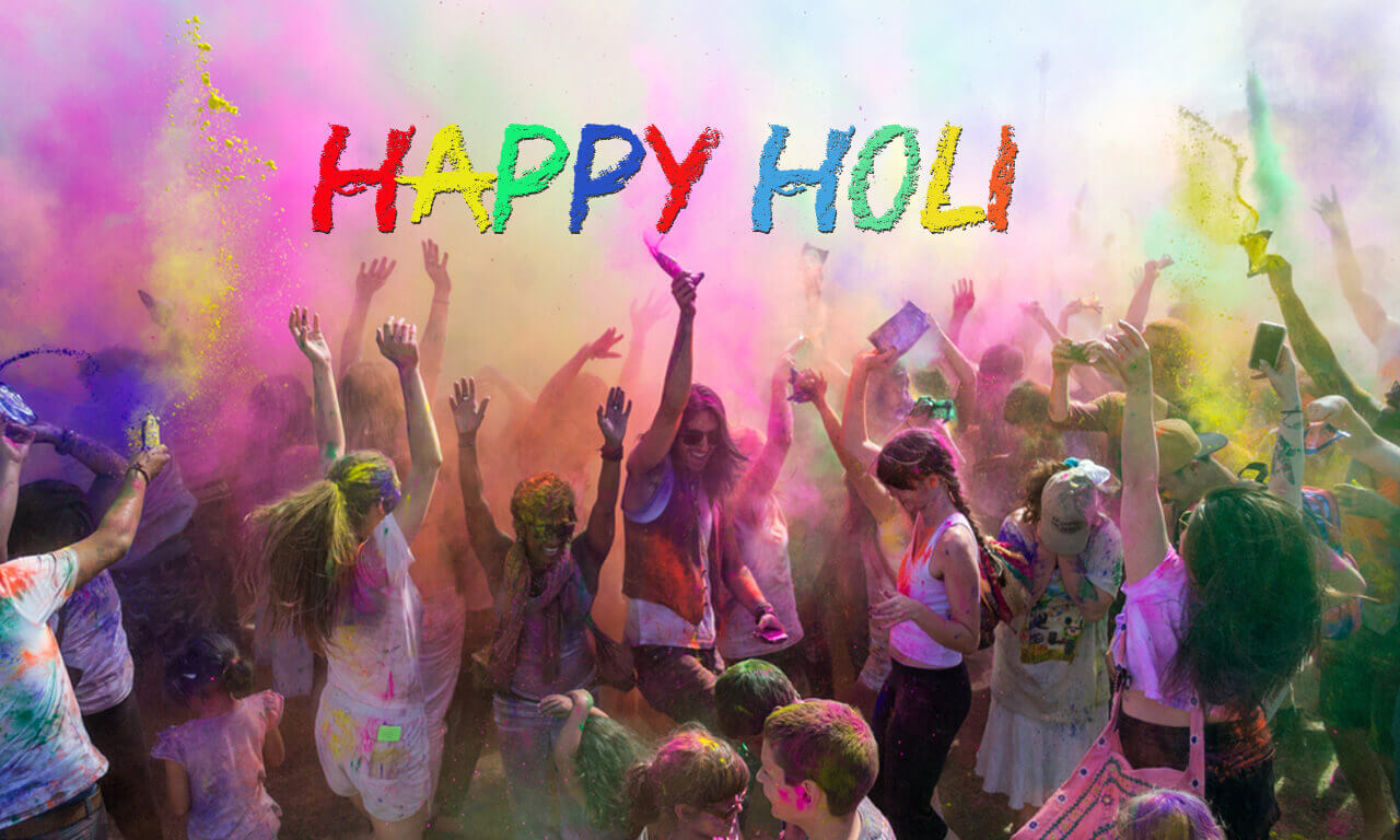 Happy Holi Wishes Quotes SMS for Girlfriend Wife