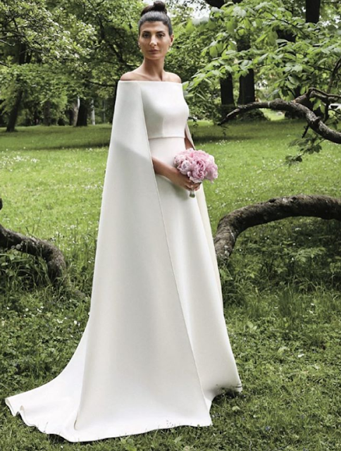 Giovanna Battaglia in Valentino wedding dress