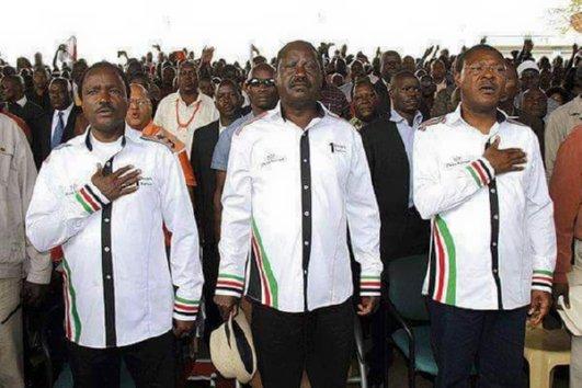 Raila, Wetangula, Kalonzo