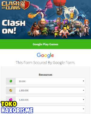 Web Phising Clash Of Clans Free Gems