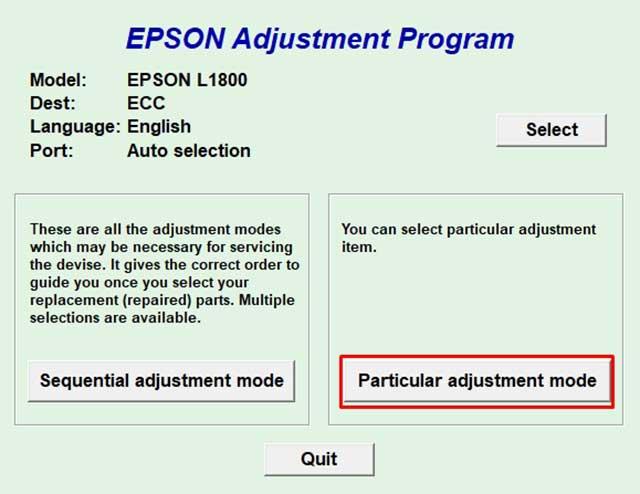 Programa gratis para resetear impresora Epson L1800