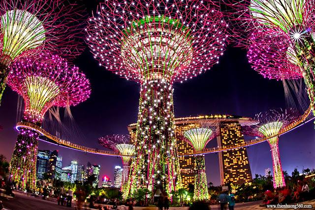 Gardens by the Bay là khu vườn nhân tao khổng lồ ở Singapore