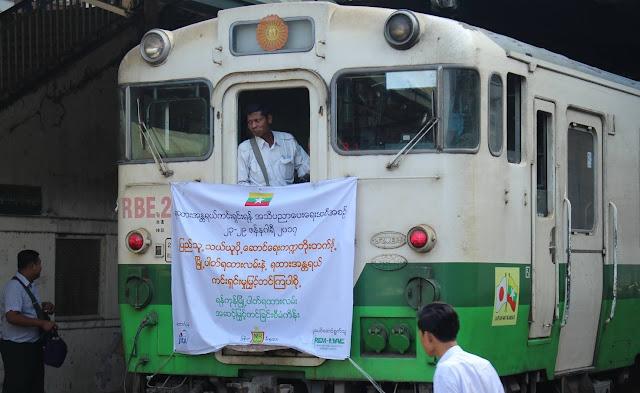 ၿဖိဳးသီဟခ်ဳိ (Myanmar Now) ● ရန္ကုန္ၿမိဳ႕ပတ္ရထားလမ္းေၾကာင္း ျပဳျပင္ေရးလႈပ္ရွားမႈ အစျပဳၿပီ