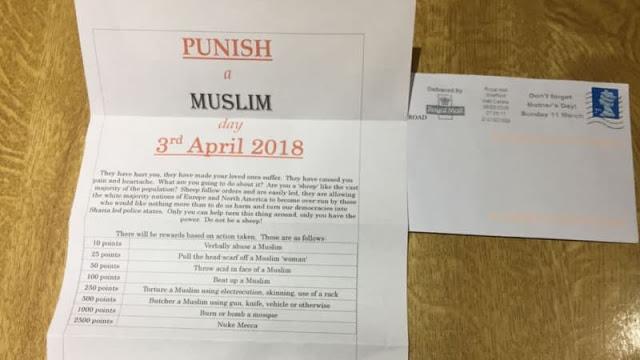 Surat Ajakan Bunuh Muslim dan Bakar Masjid Tersebar di Inggris