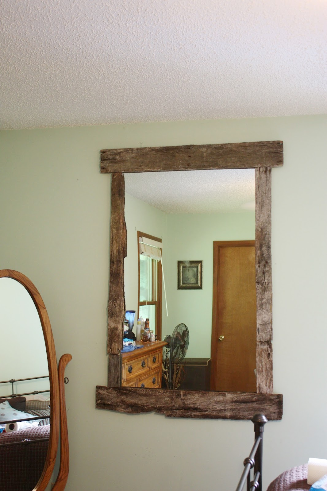 A Day in the Life of One Girl: DIY {Rustic Mirror Frame}