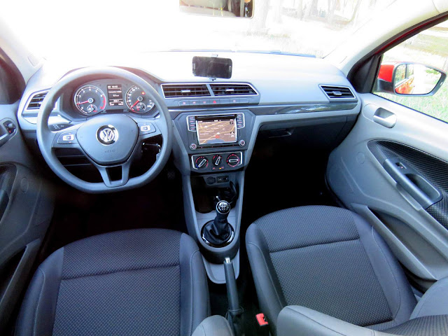 Novo VW Gol 2017 Comfortline 1.6 - interior